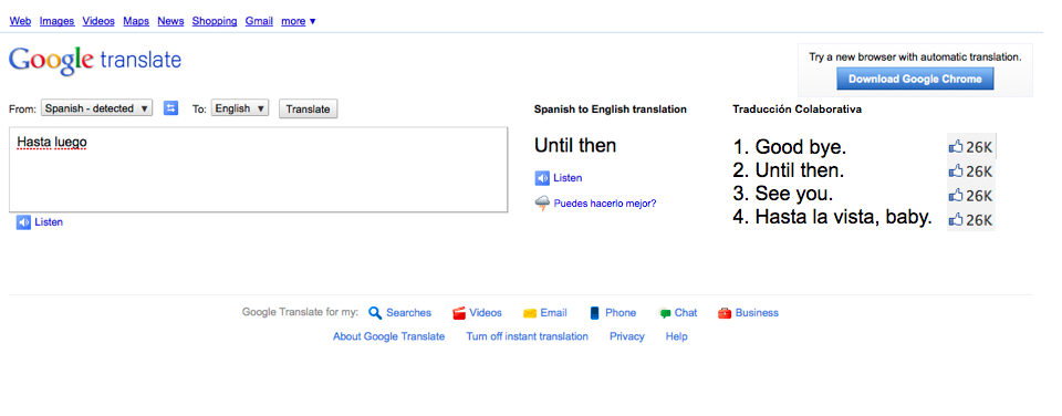 Collaborative Translation, Google